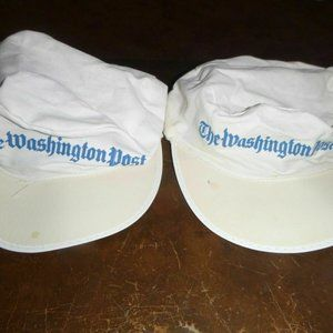 2 Vintage The Washington Post Unisex Painters Caps